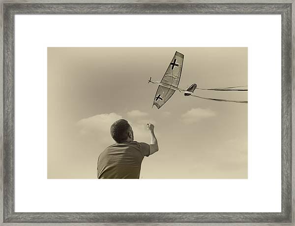 War Plane Play Framed Print