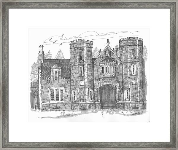 Ward Manor Bard College Framed Print