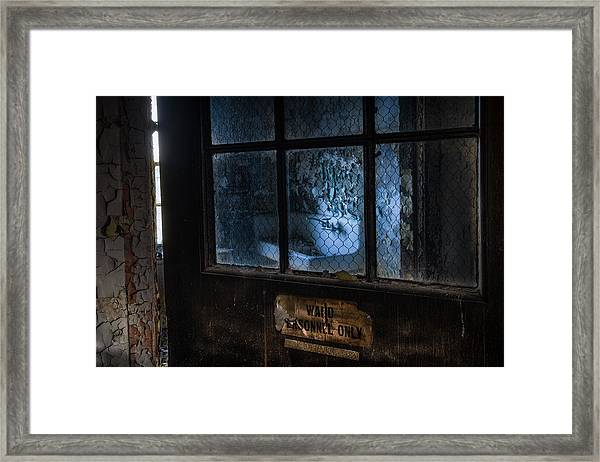 Ward Personnel Only Framed Print