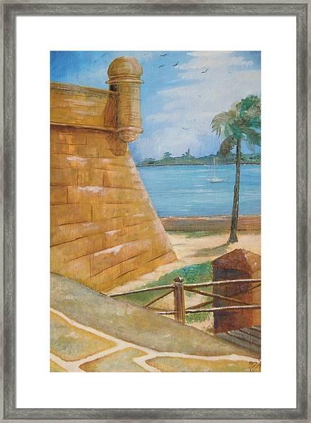 Warm Days In St. Augustine Framed Print