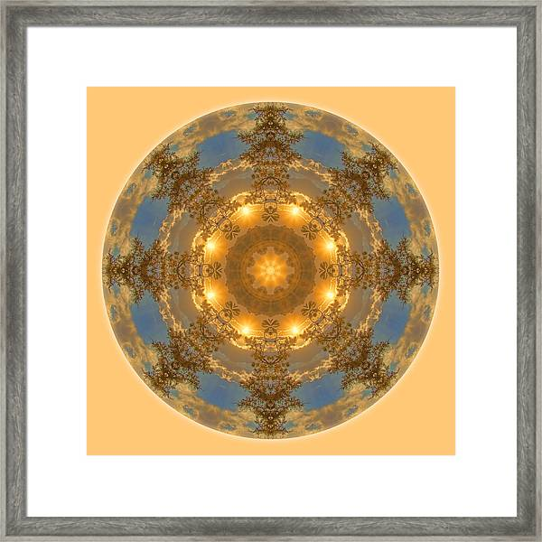 Framed Print featuring the photograph Warm Glow Of The Sun Mandala by Beth Sawickie