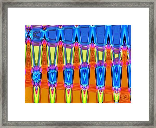 Warp Seven Framed Print