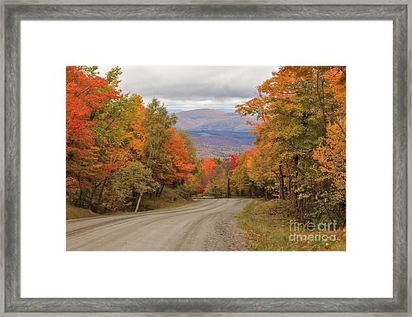 Warren Mountain Road View Framed Print