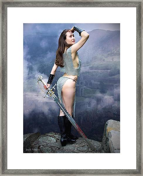 Warrior Ruins Framed Print
