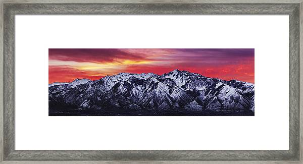Wasatch Sunrise 3x1 Framed Print