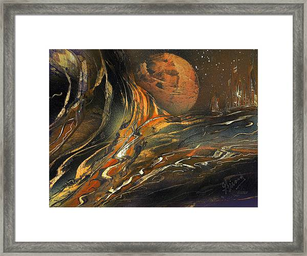 Washed Away Framed Print