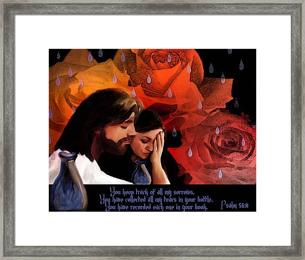 Washed In His Love Framed Print