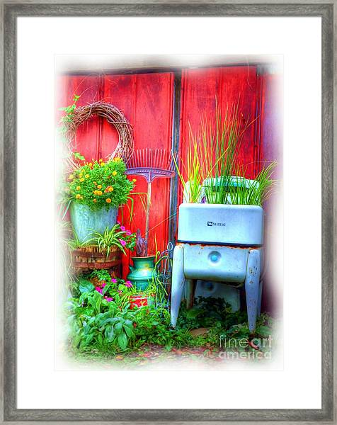 Framed Print featuring the photograph Washing Machine Art by Mel Steinhauer