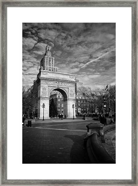 Washington Arch Framed Print