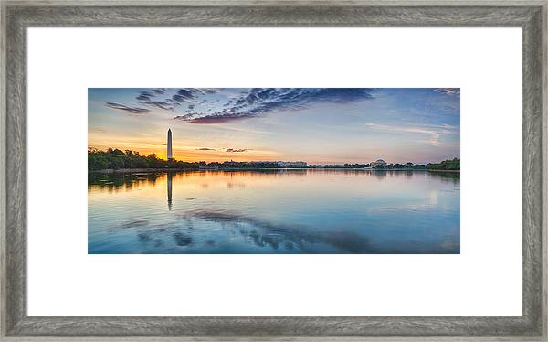 Washington Dc Panorama Framed Print