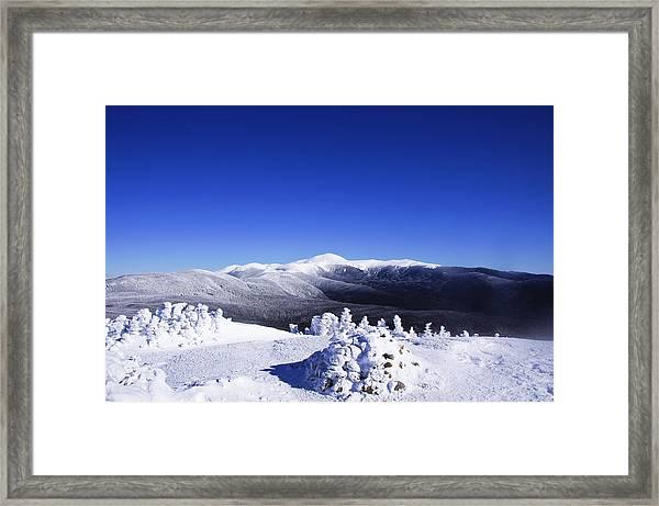 Washington In White Framed Print