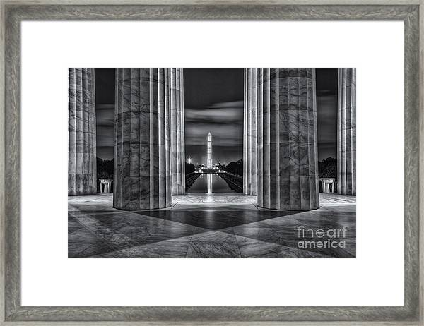 Washington Monument From Lincoln Memorial II Framed Print