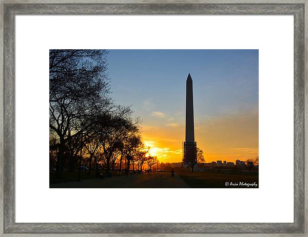 Washington Monument Under Repair Framed Print
