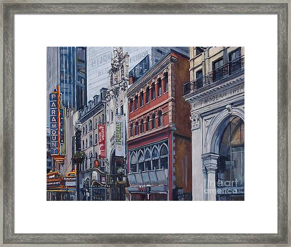 Washington Street In June Framed Print