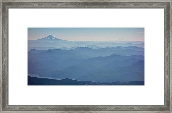 Washington View From Mount Saint Helens Framed Print by Matt Freedman