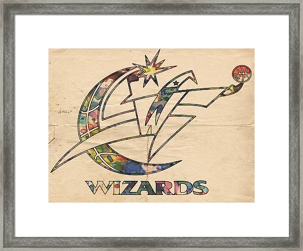 Washington Wizards Poster Art Framed Print