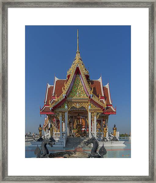 Wat Bukkhalo Central Roof-top Pavilion Dthb1809 Framed Print