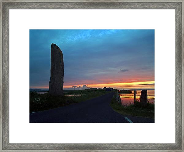 Watch Stone Sunset Framed Print by Steve Watson