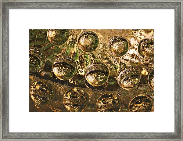 Watching 01 Glass Works Series Framed Print