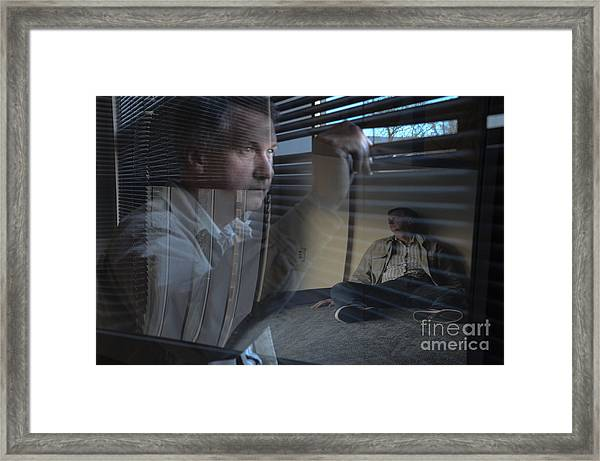 Watching Life Go By Framed Print