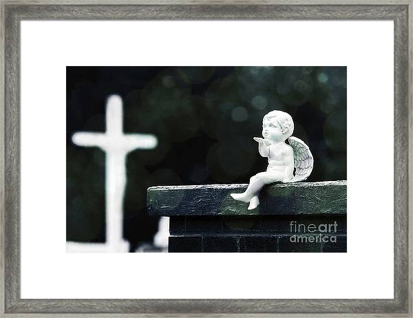 Watching Over Them Framed Print