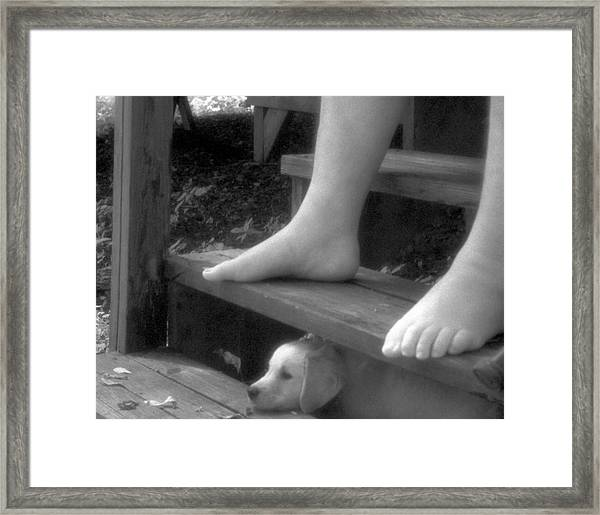 Watching The River Go By Framed Print