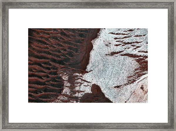 Water-bearing Rocks On Mars Framed Print