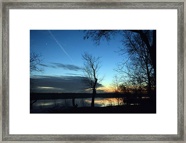 Water Color Sunset Framed Print by Bill Helman