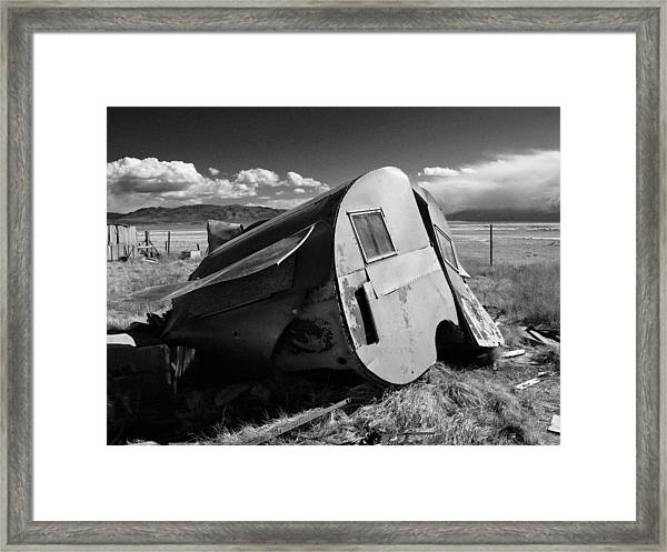 Water Front Property On A Ghost Lake Framed Print