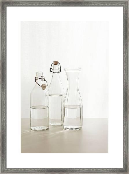 Water Glass Framed Print by Renáta Dobránska