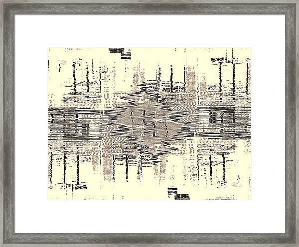 Water  Graph Framed Print