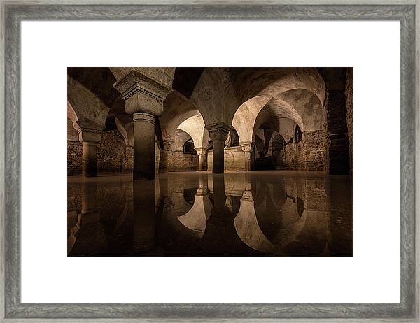 Water In The Crypt Framed Print