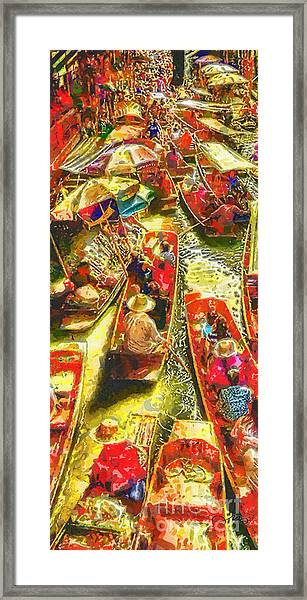 Water Market Framed Print