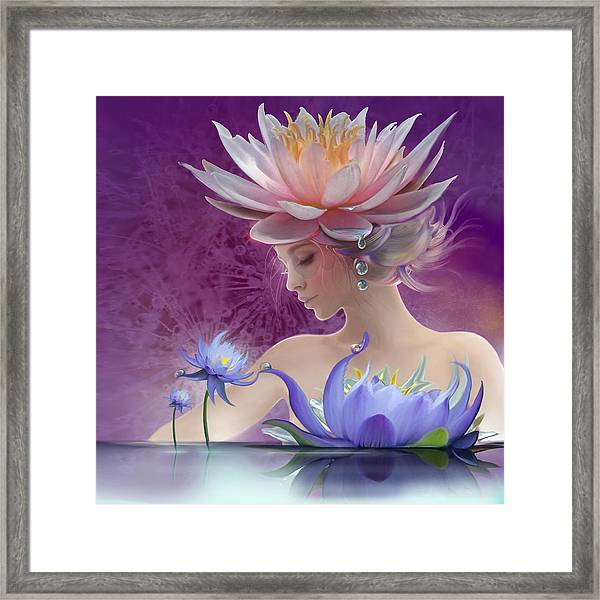 Water Of Life - In Violet Framed Print