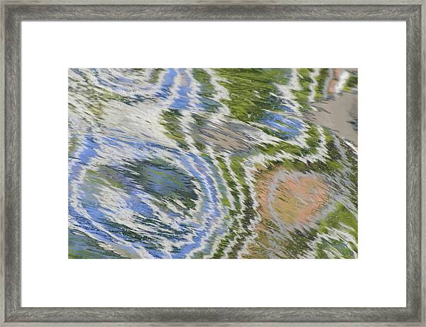 Water Ripples In Blue And Green Framed Print