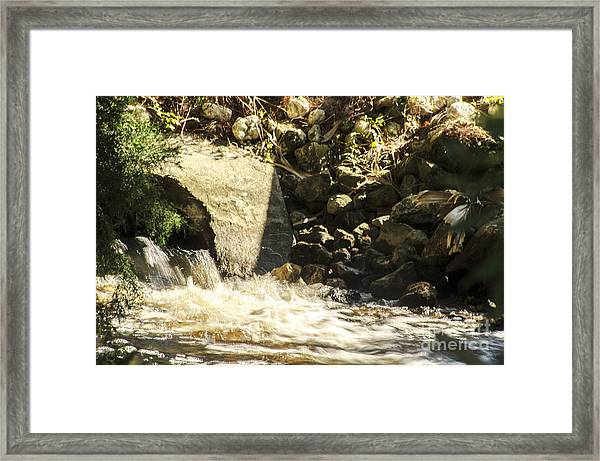 Water Rocks Framed Print