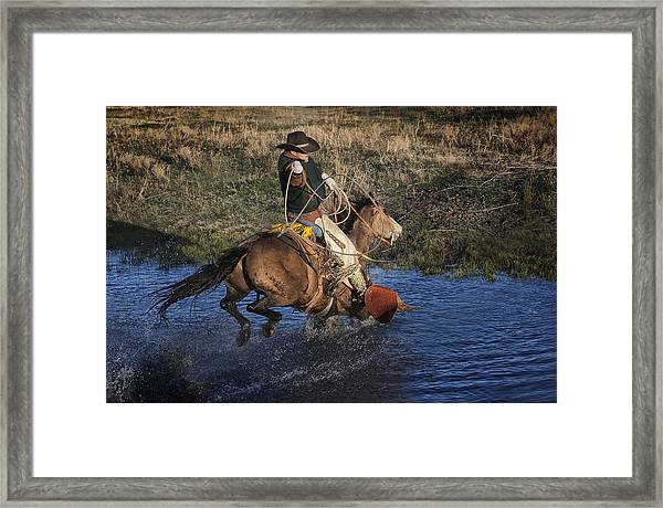 Water Roper Framed Print