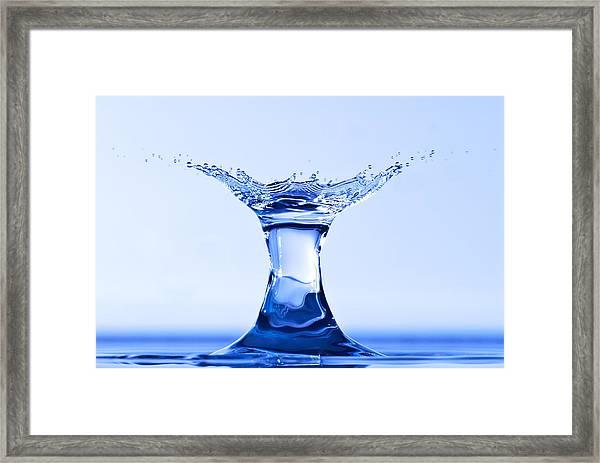 Water Splash Framed Print