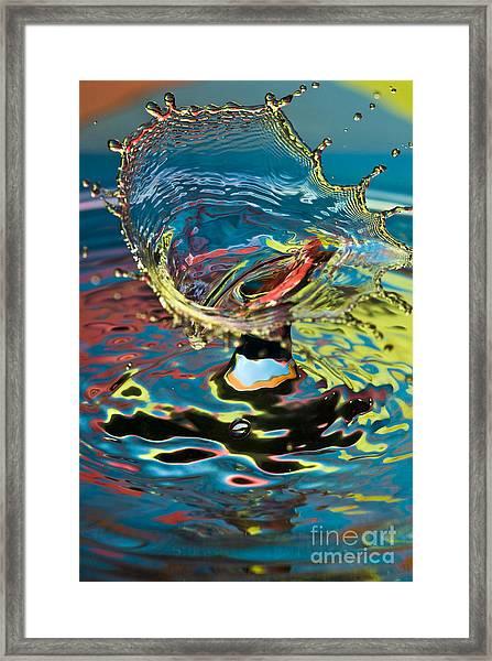 Water Splash Exploding Framed Print