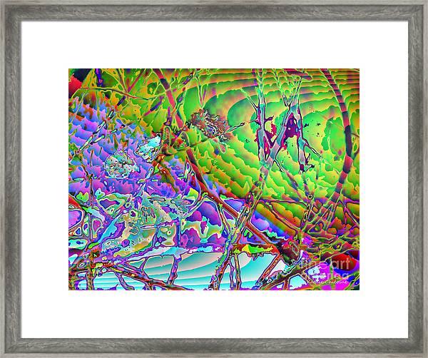 Water Splashed Framed Print