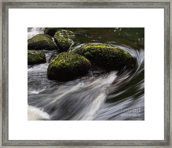 Water Swirl Framed Print