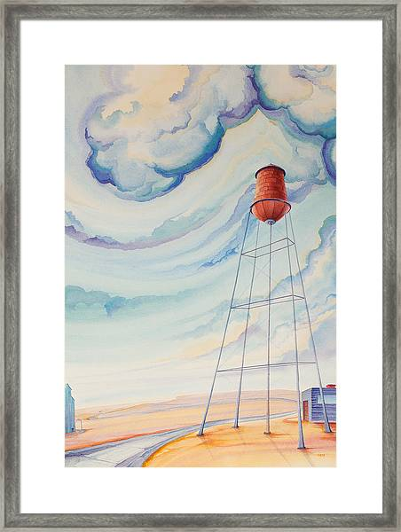 Framed Print featuring the painting Water Tank I by Scott Kirby