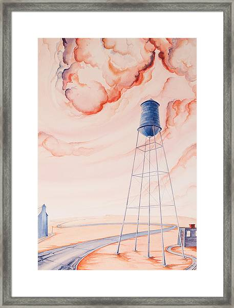Framed Print featuring the painting Water Tank II by Scott Kirby