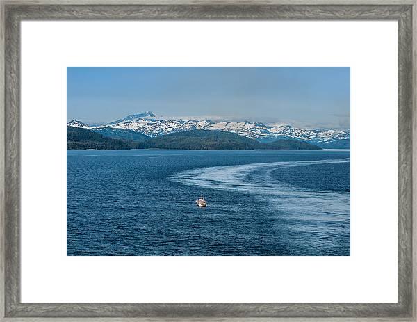 Water Trail Framed Print