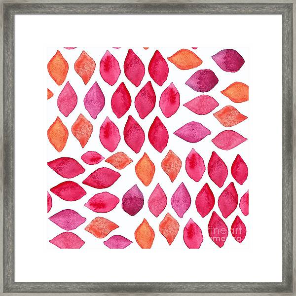 Watercolor Abstract Seamless Pattern Framed Print