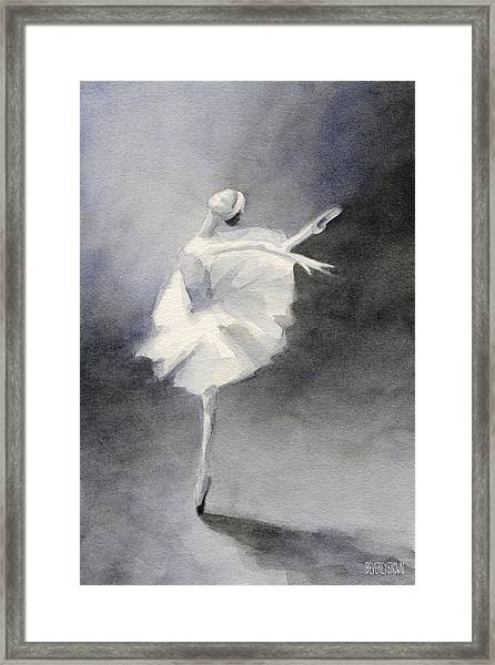 Watercolor Ballerina Painting Framed Print