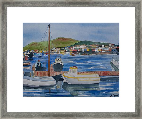 Watercolor - Dingle Ireland Framed Print