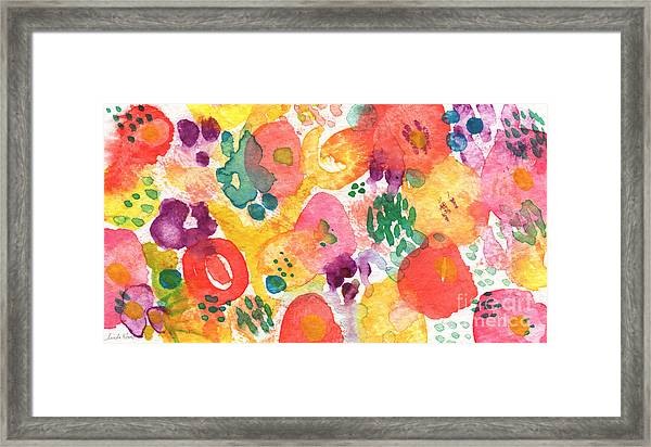 Watercolor Garden Framed Print