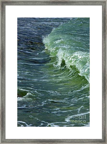 Watercolor Wave Framed Print