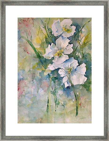 Watercolor Wild Flowers Framed Print
